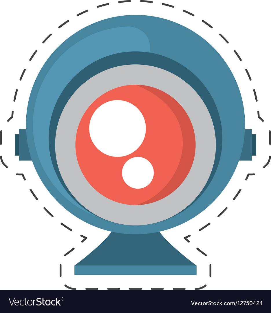 Web camera play communication vector image