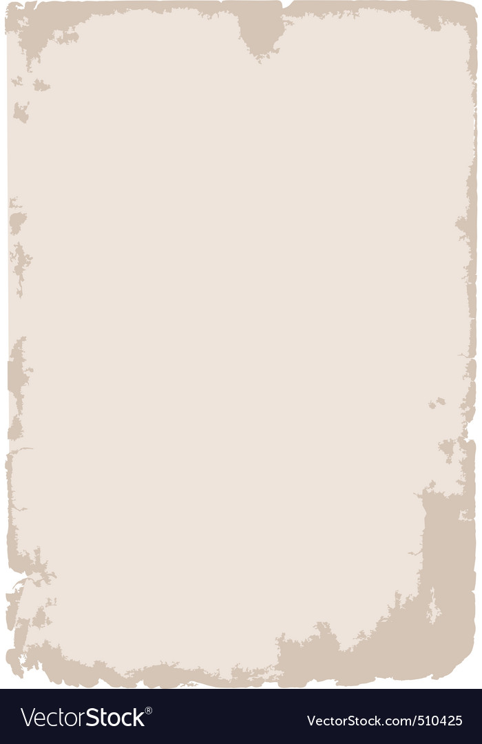 Old grunge paper background vector image