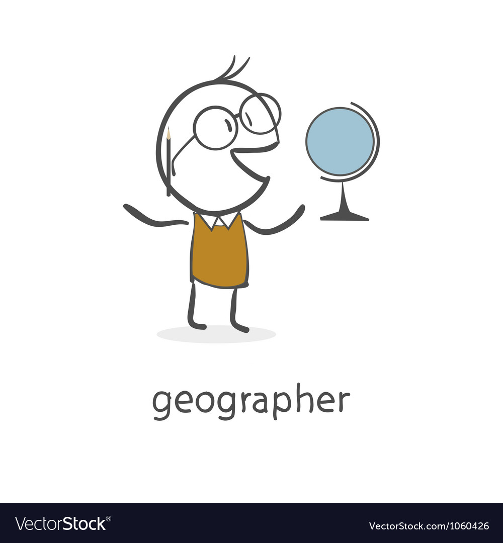 Geographer vector image