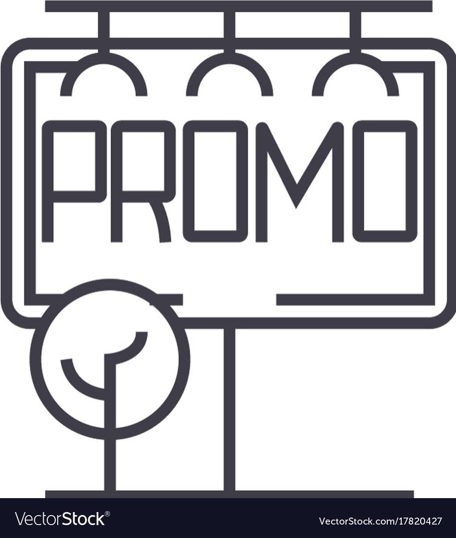 Billboard advertising big horizontal promo vector image