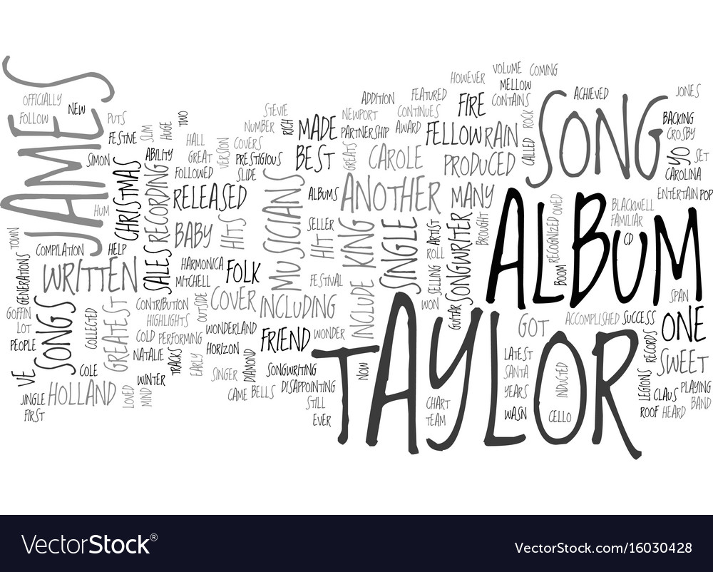 James Taylor Song Text Background Word Cloud Vector Image