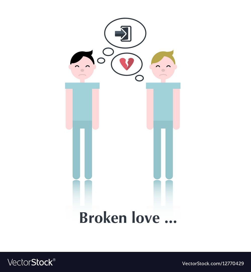 Gay relationship icon vector image