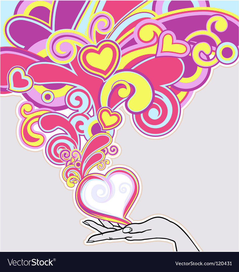 Hand love vector image