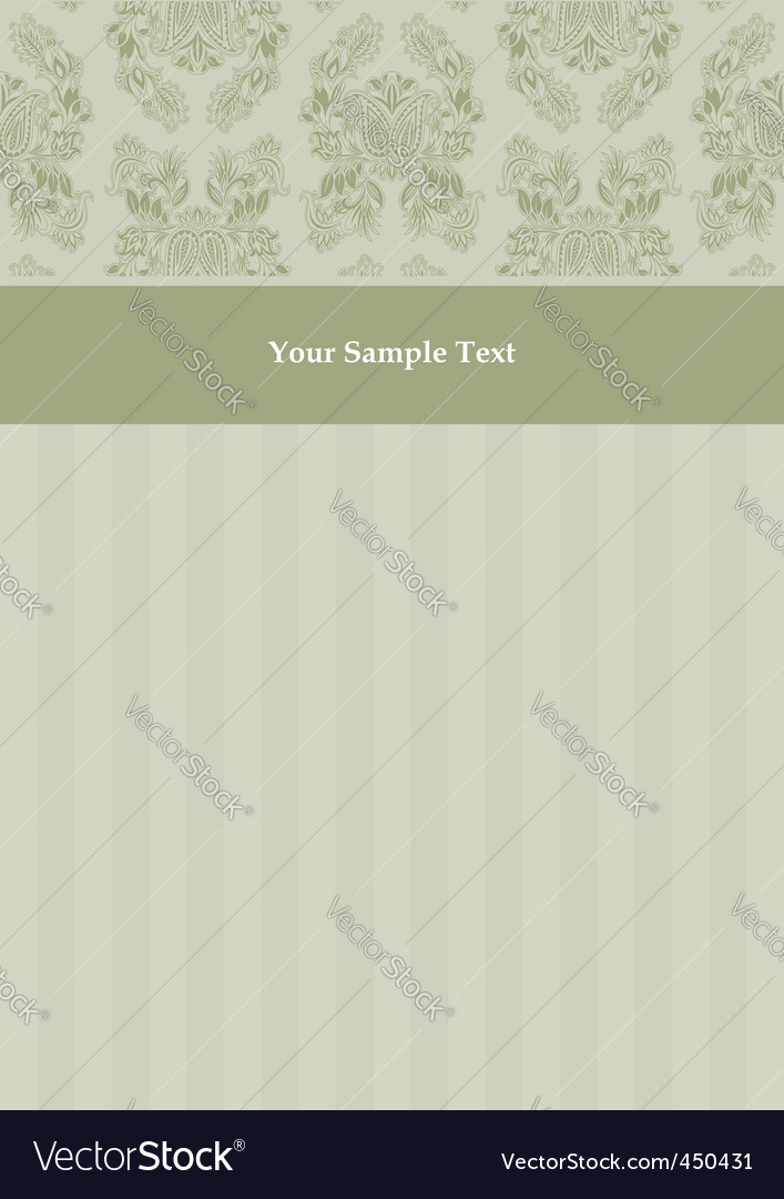 Vector decorative pattern and frame vector image