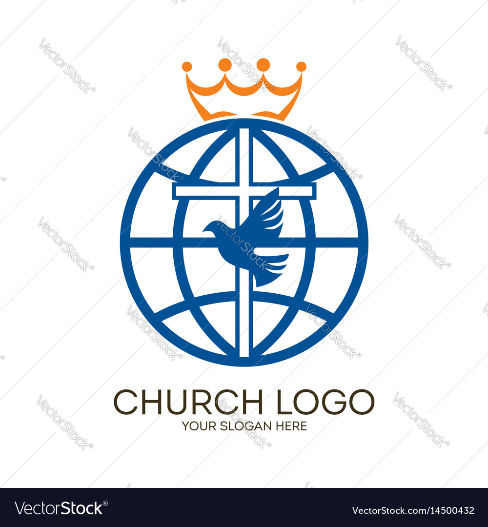 Cross dove and globe royalty free vector image cross dove and globe vector image altavistaventures Images