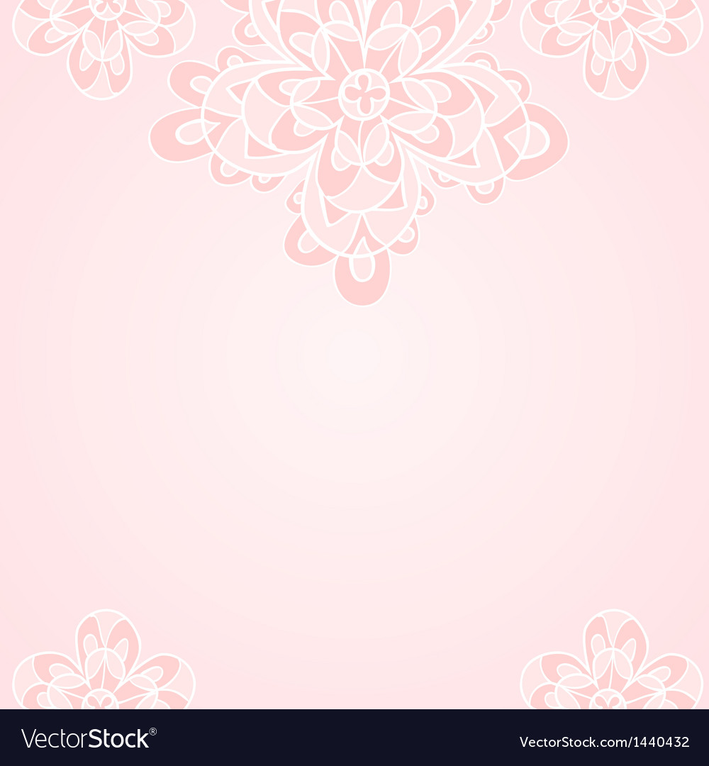 Light Pink Ethnic Floral Background Royalty Free Vector