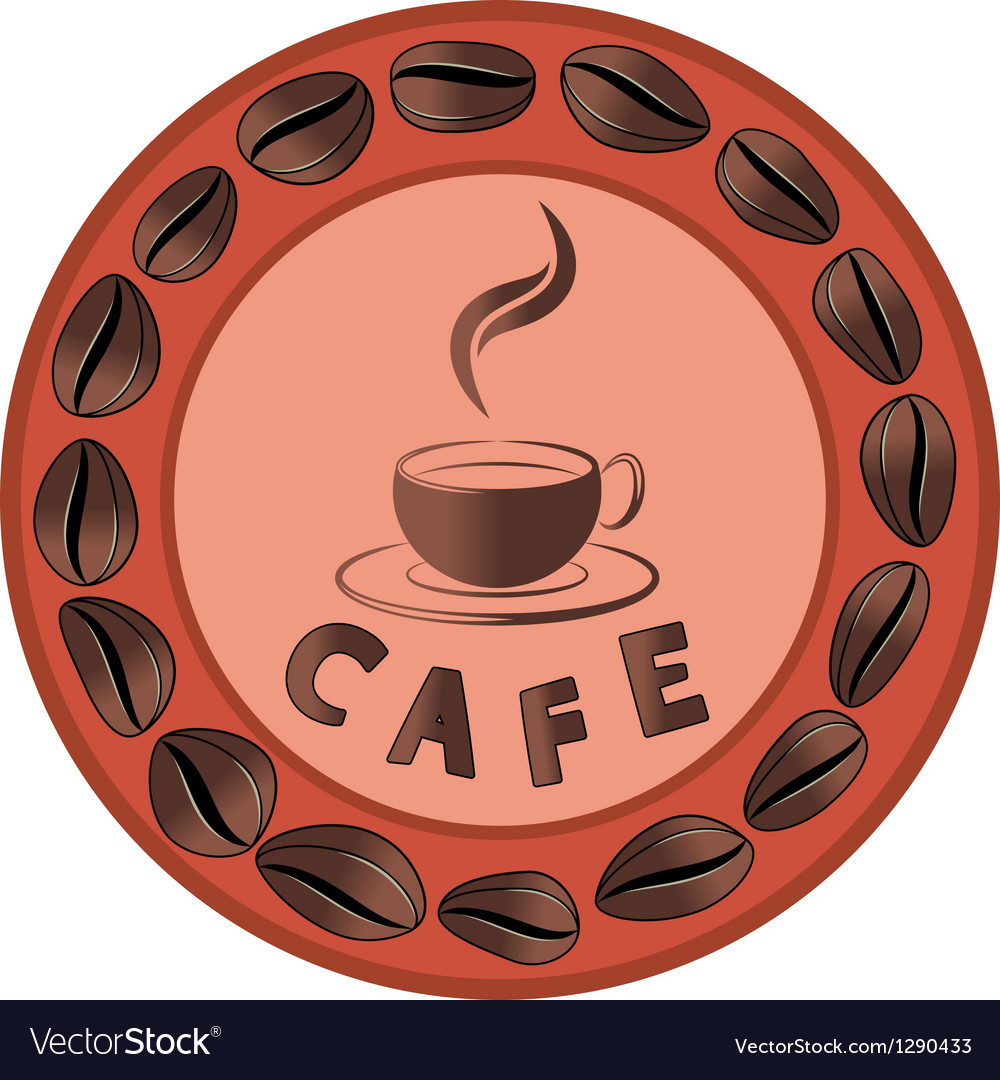 Cafe advertising vector image