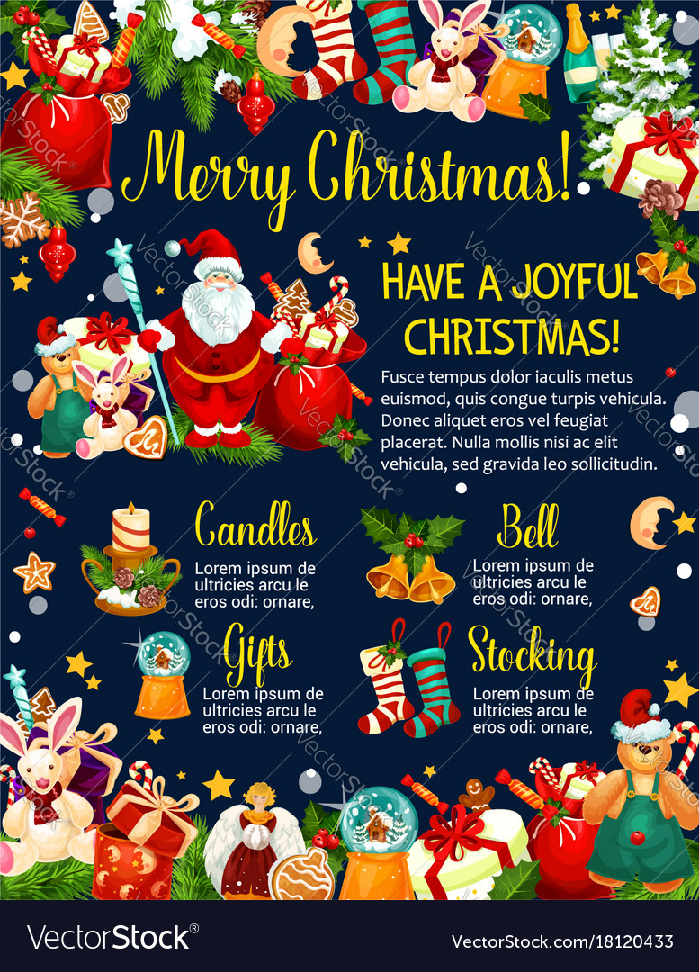 Merry christmas holiday greeting card royalty free vector merry christmas holiday greeting card vector image kristyandbryce Gallery