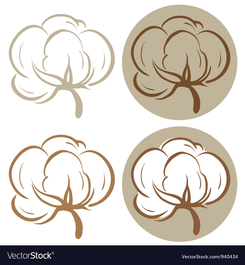Cotton icons vector image