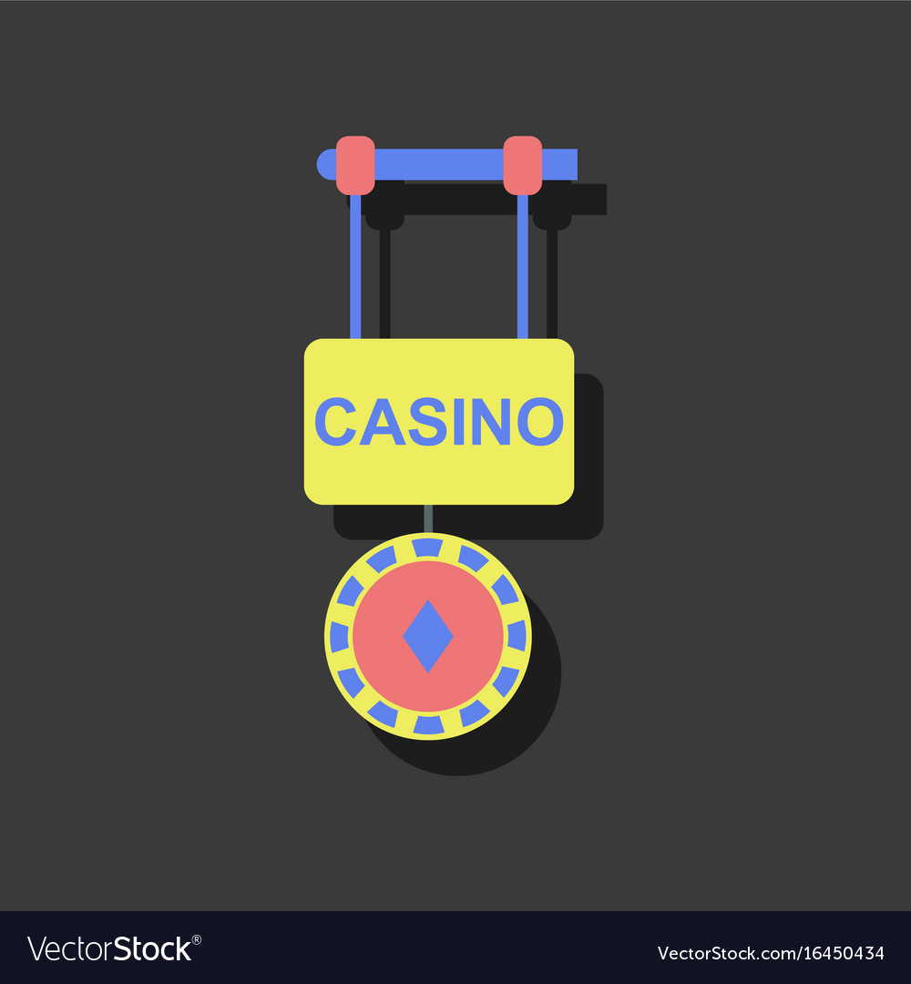 Flat icon design collection casino street banner