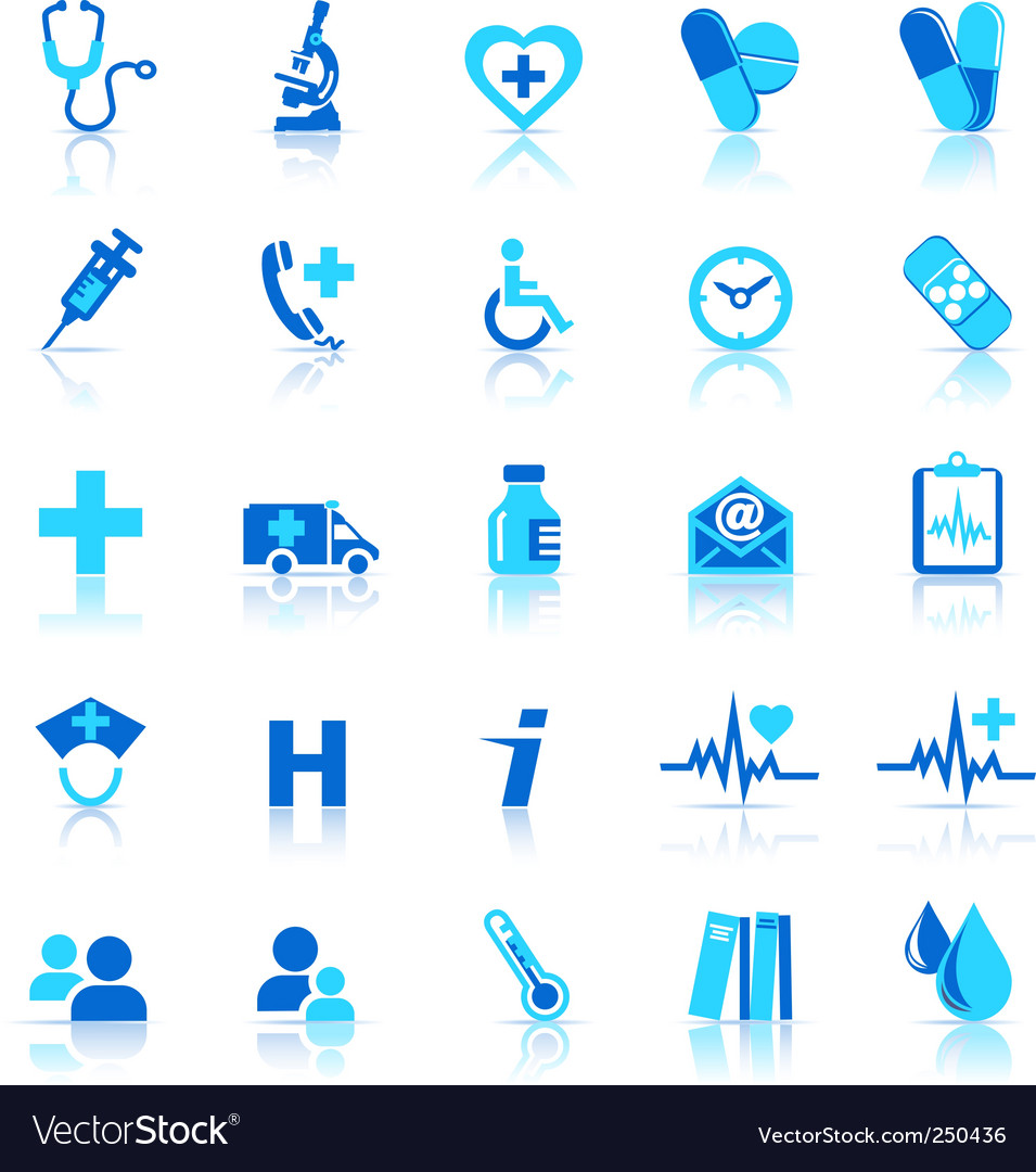 Health care icons vector image