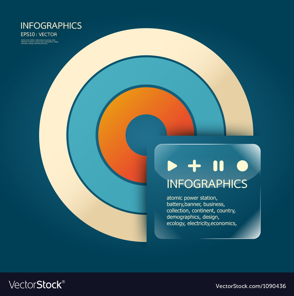 Infographics Modern Design template vector image