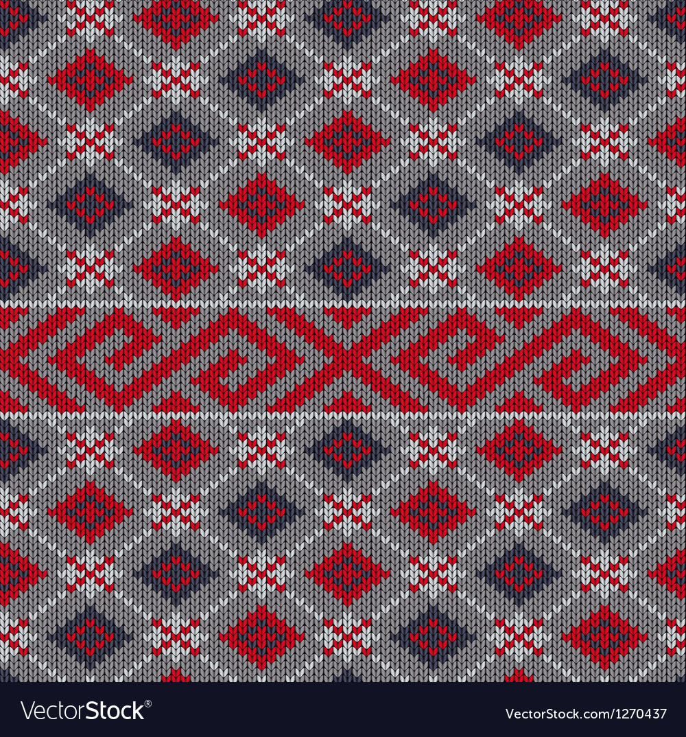 Knit texture vector image