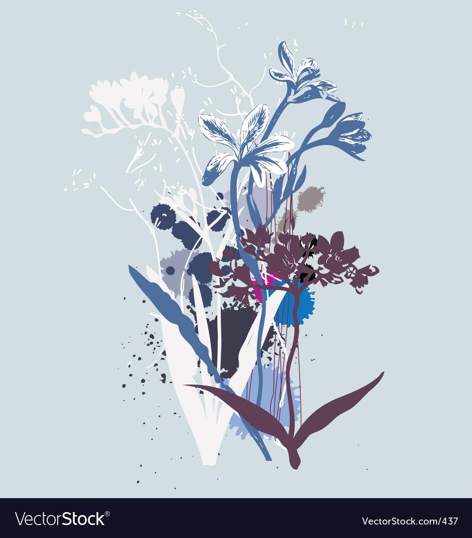 Wild flowers vector image
