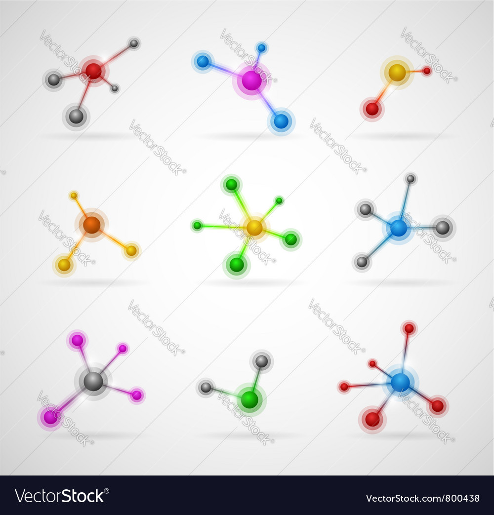 Abstract molecules set Vector Image