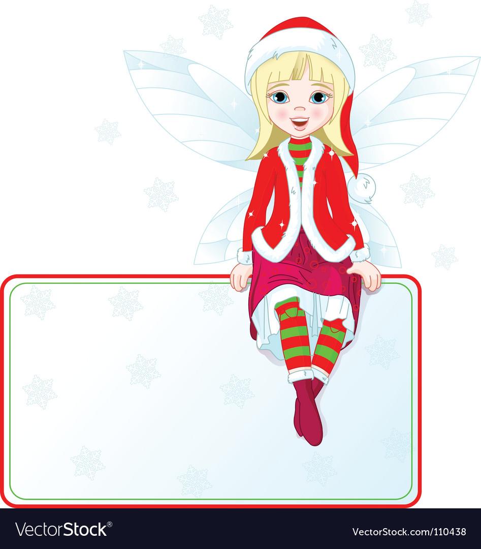 Christmas fairy card vector image