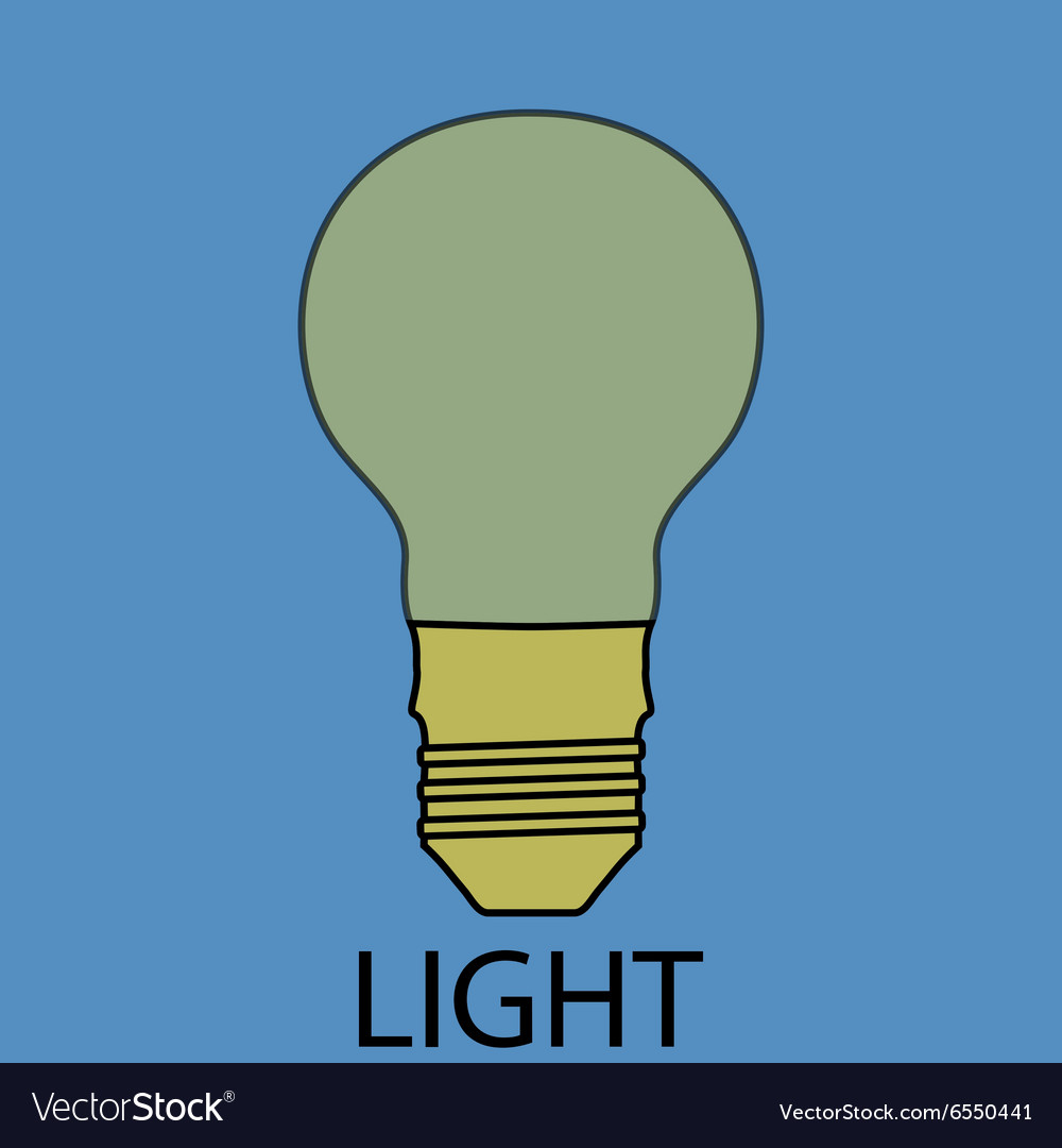 Light supply icon flat design concept vector image