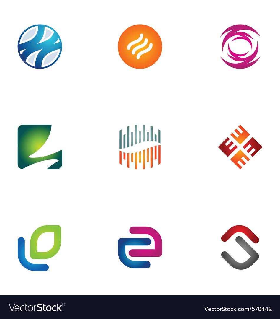 Logo design elements set 76 Vector Image