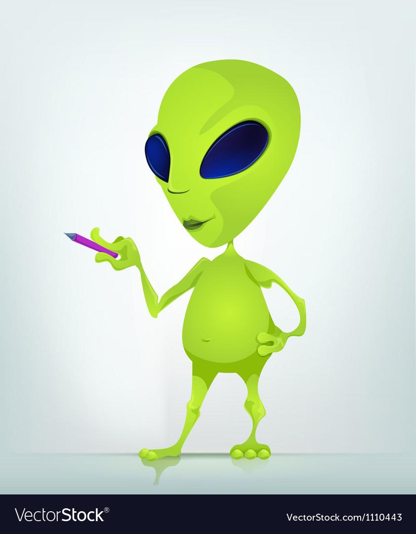 Cartoon Alien teacher vector image