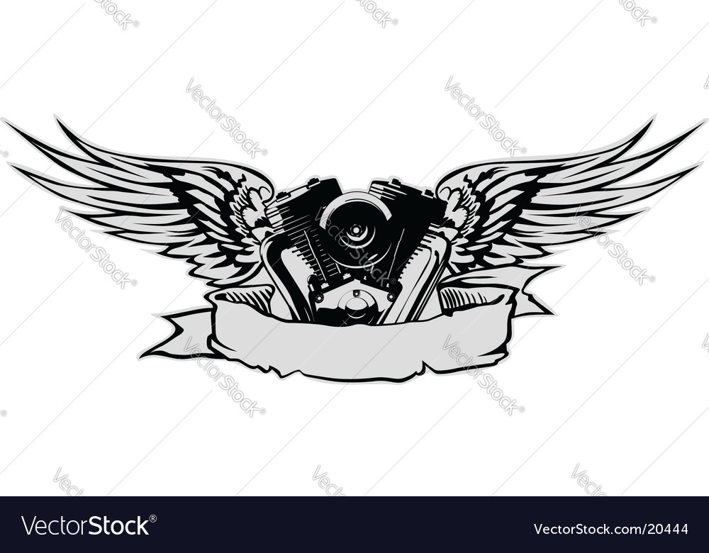 Engine vector image