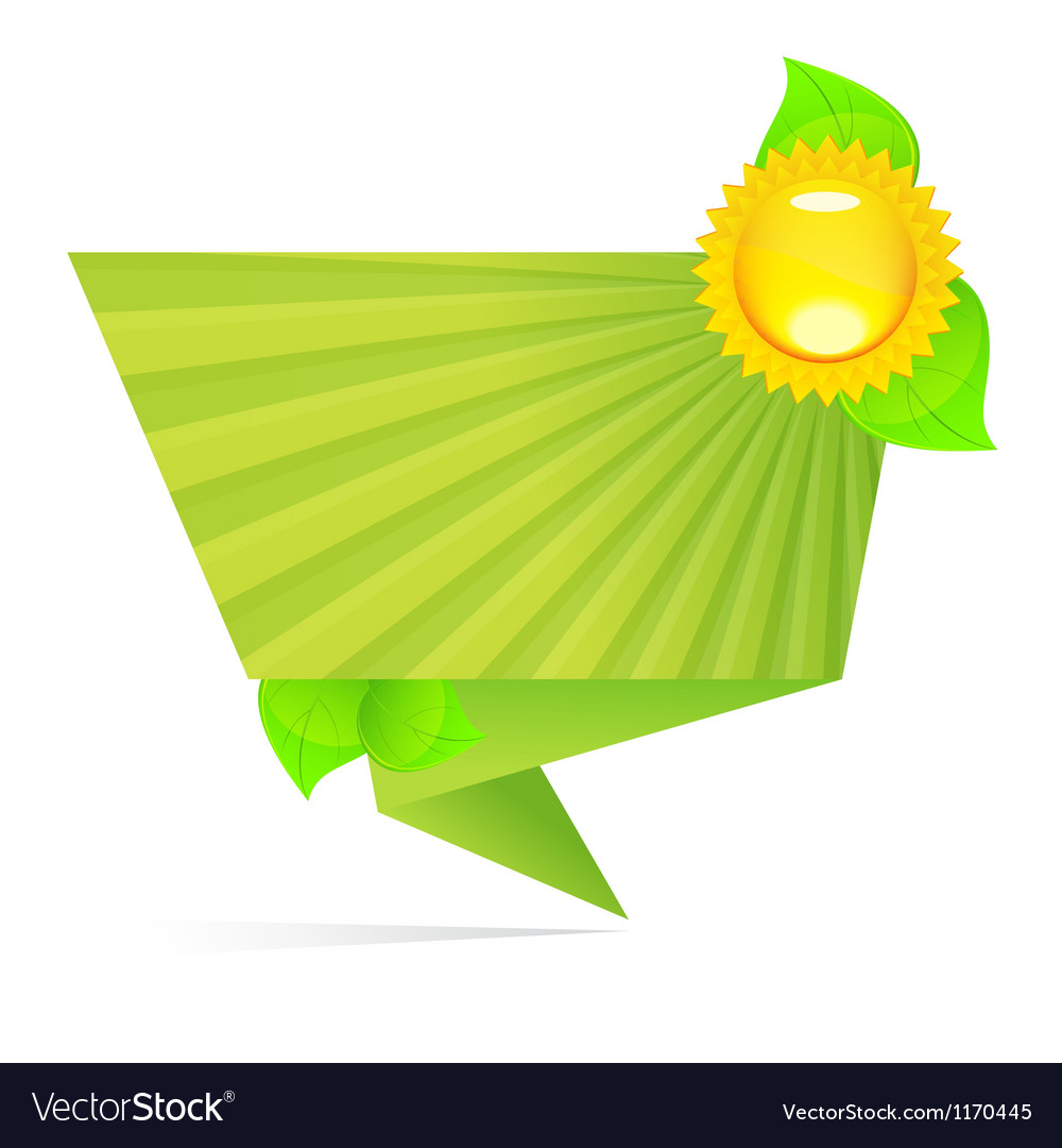 Ecology origami paper vector image