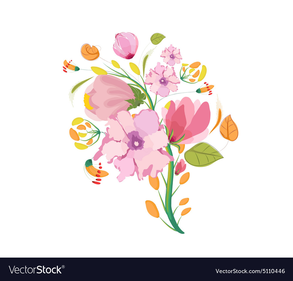 flower bouquet watercolor clipart royalty free vector image