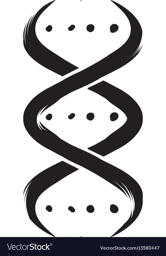 Dna strand icon cartoon vector image