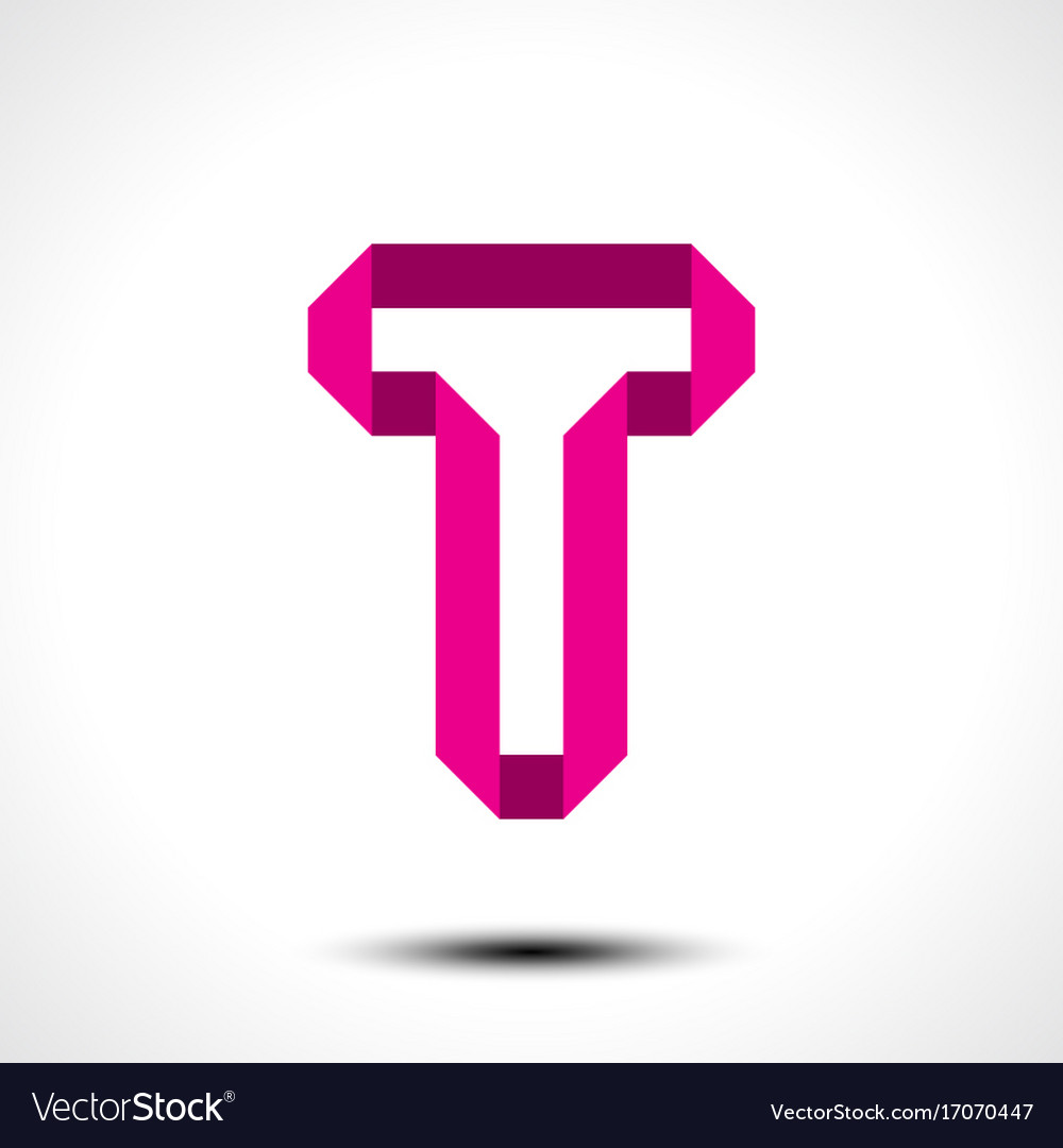 Letter t logo icon design template element vector image