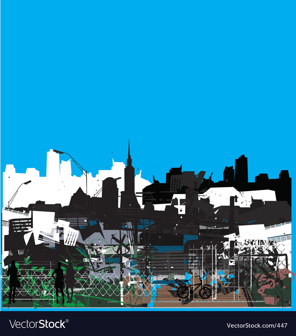 Urban jungle vector image