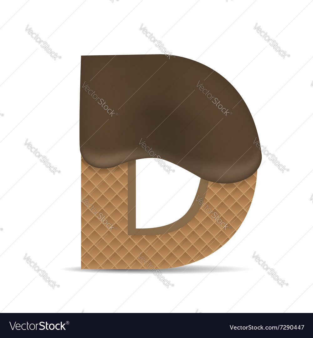 Wafer D letter vector image