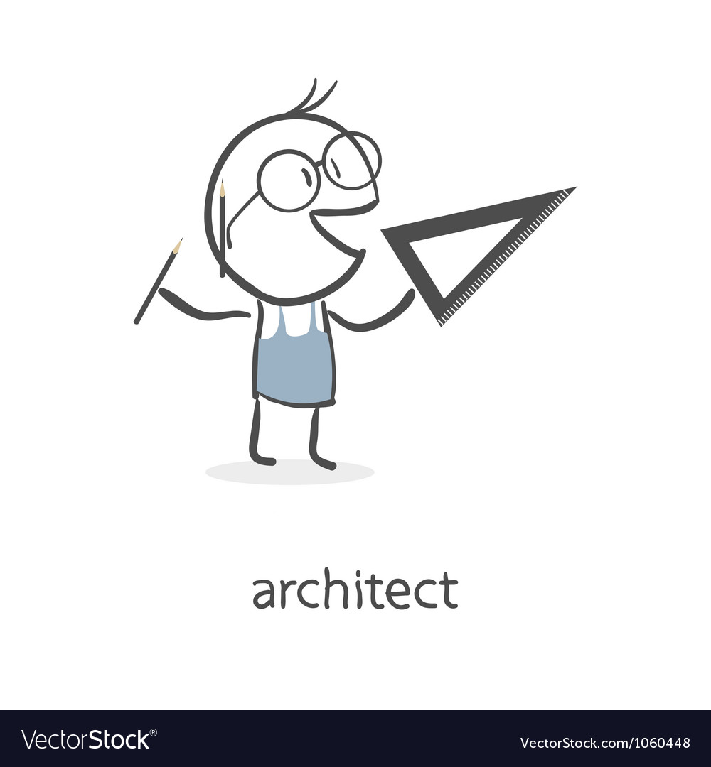 Architect vector image