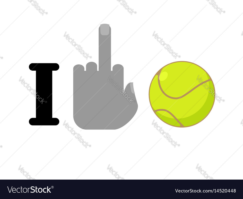 I hate tennis symbol of hatred and ball logo vector image