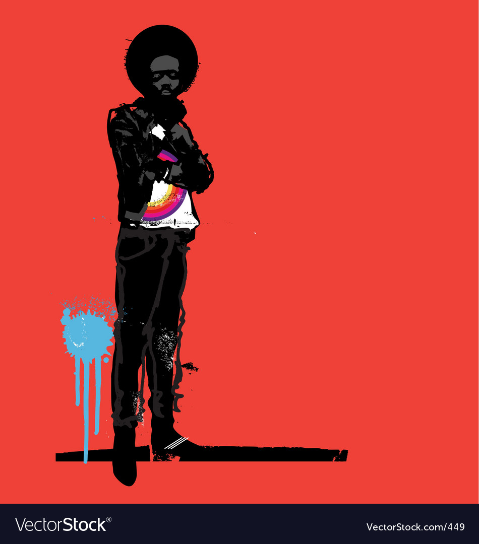 Urban afro vector image
