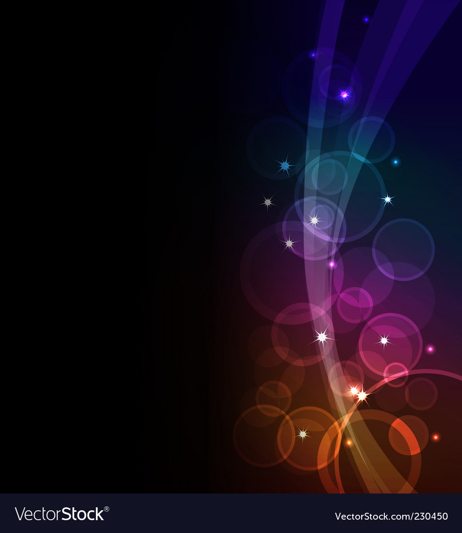 Glowing background vector image