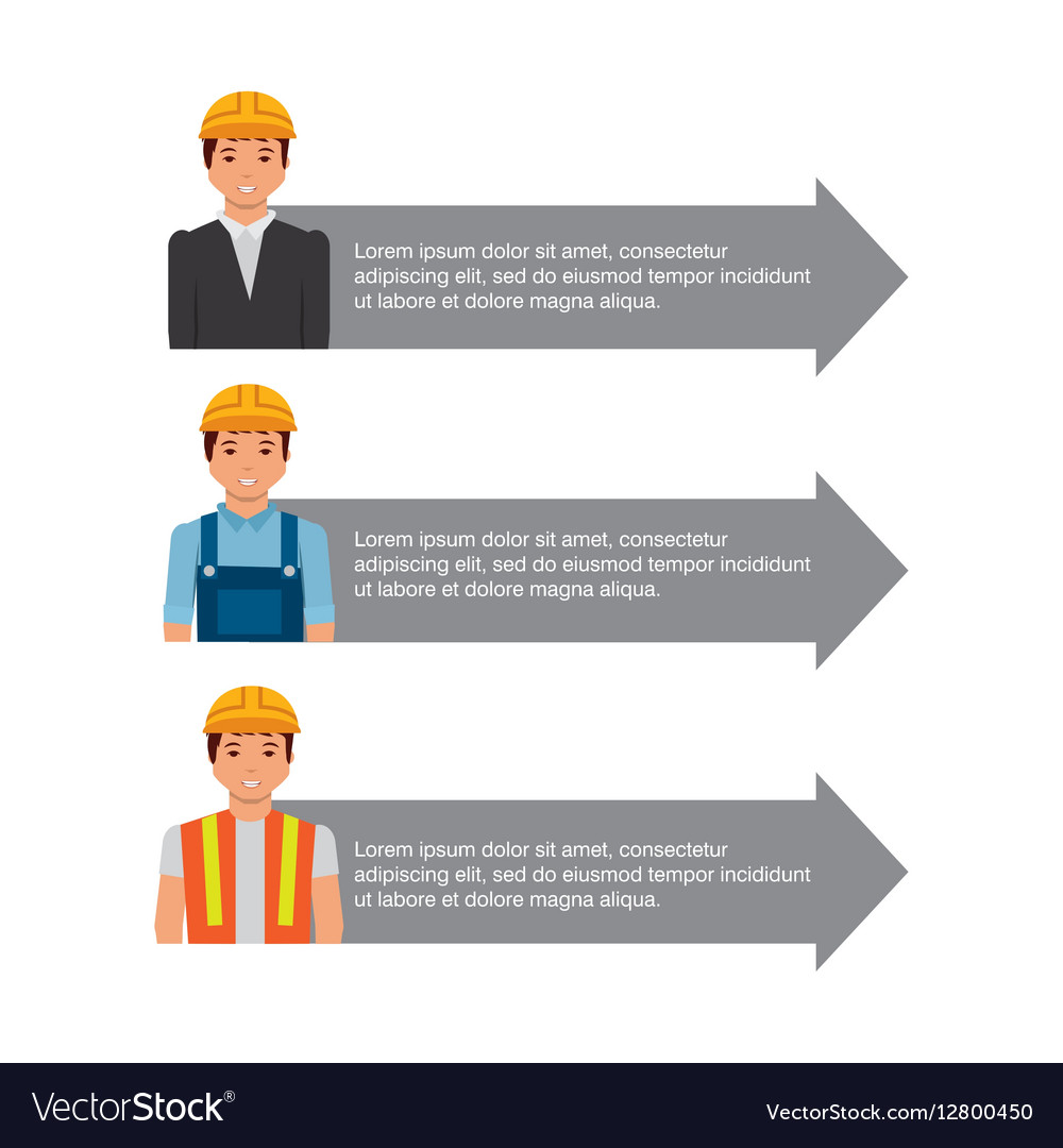 Infographic presentation of construction vector image
