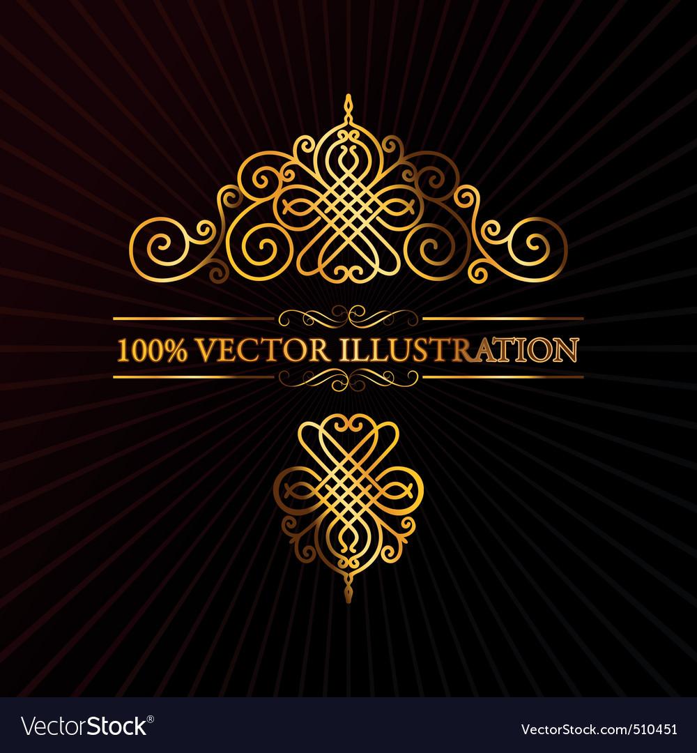 Retro ornament calligraphic vector elements vector image