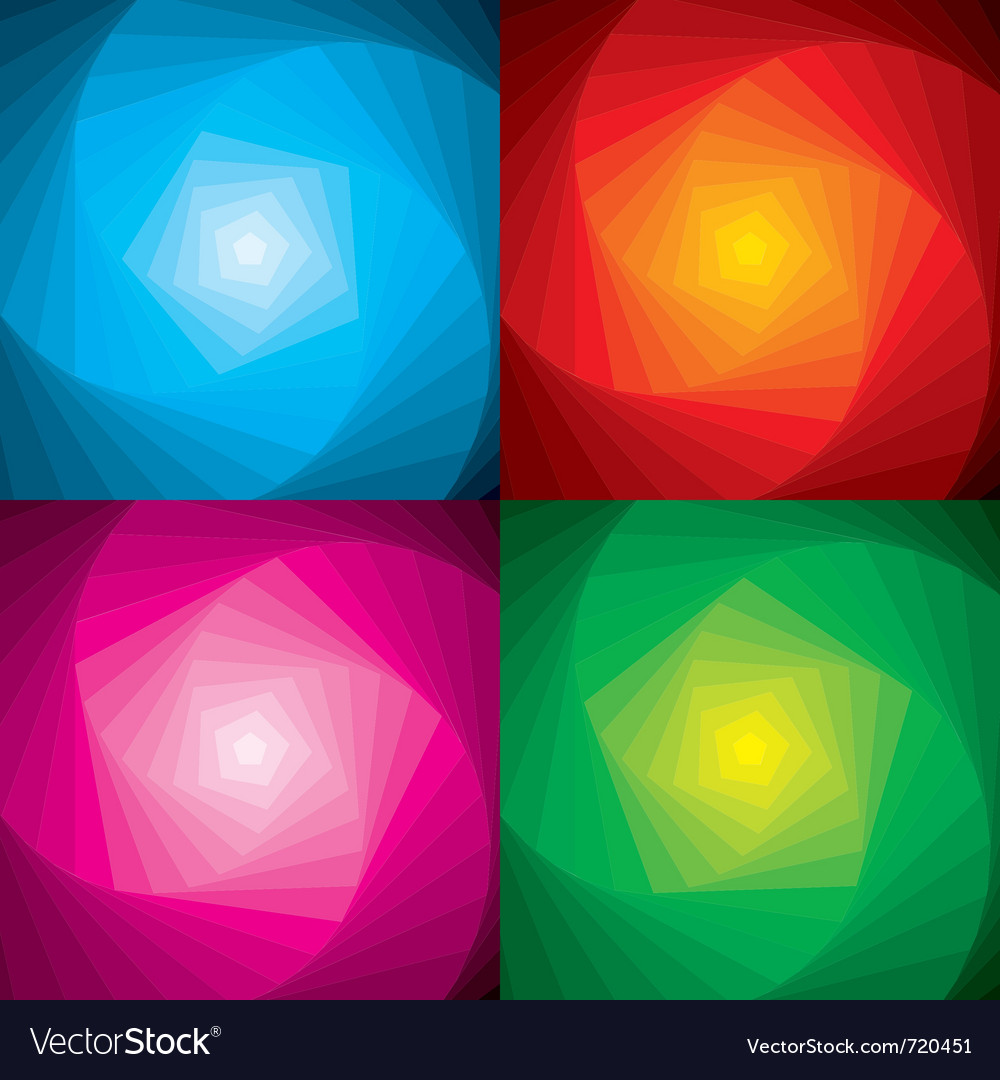 Abstract colorful swirls background set vector image