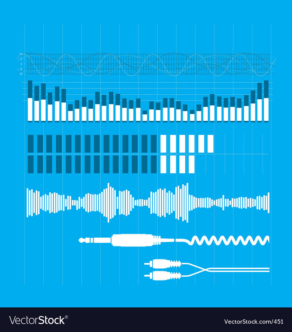 Sound elements vector image