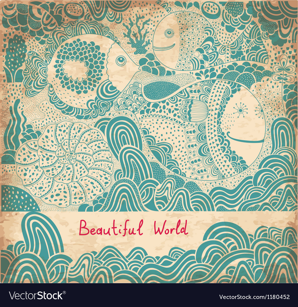 Beautiful world abstract vector image