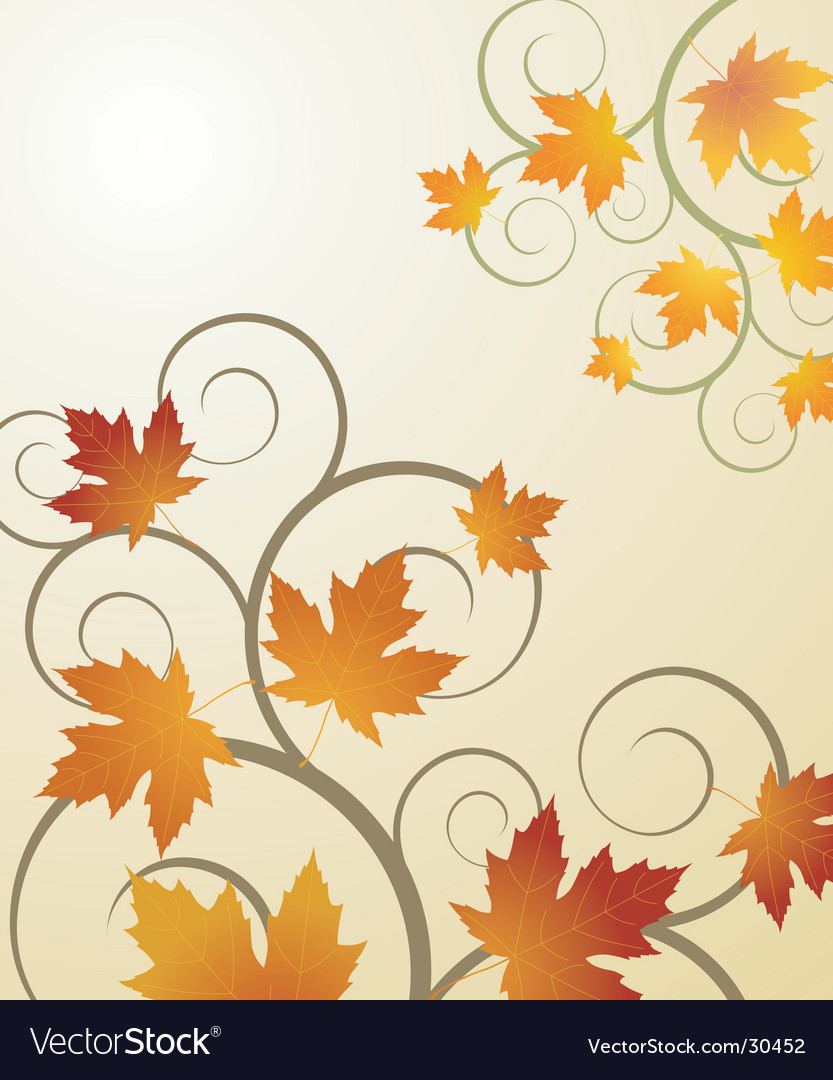 Autumn concept background vector image