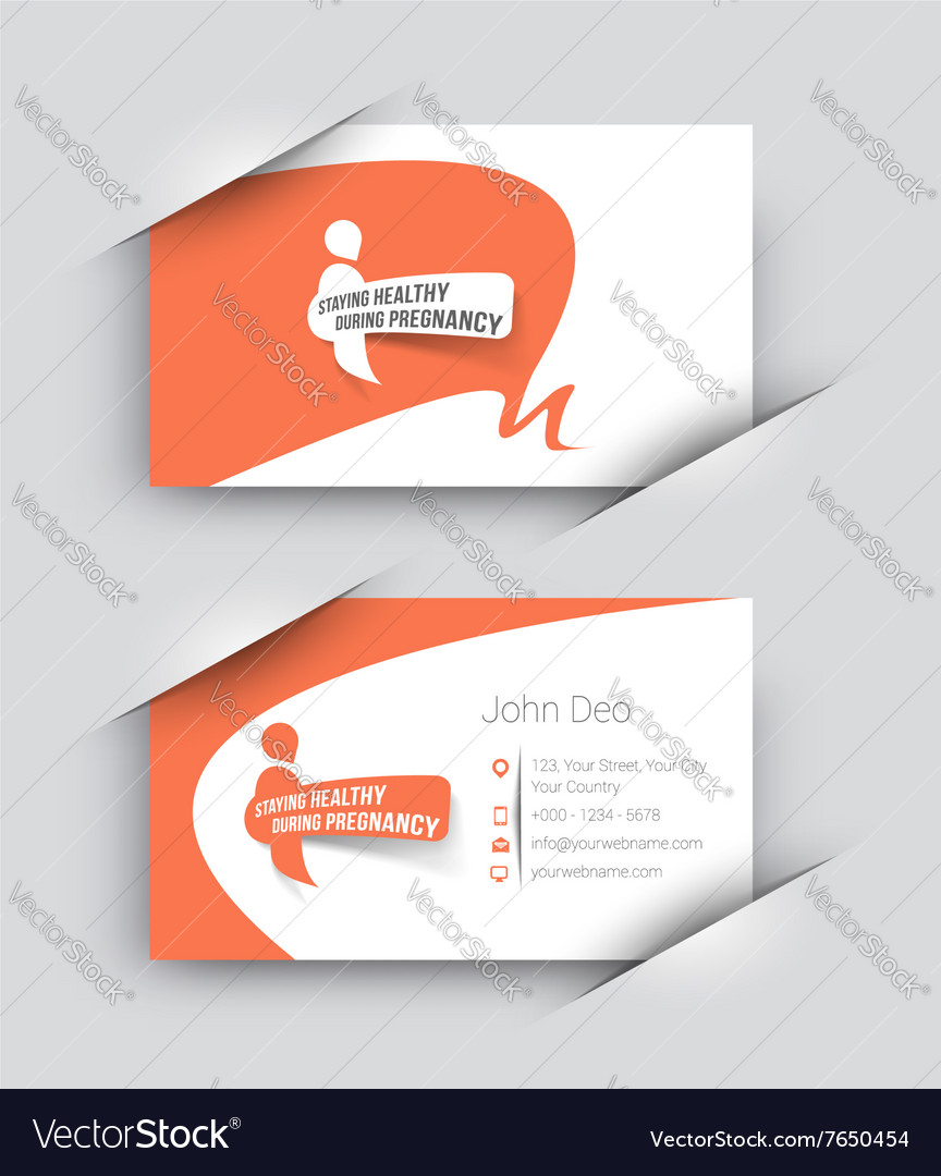 Hospital Business Card Set Vector Image