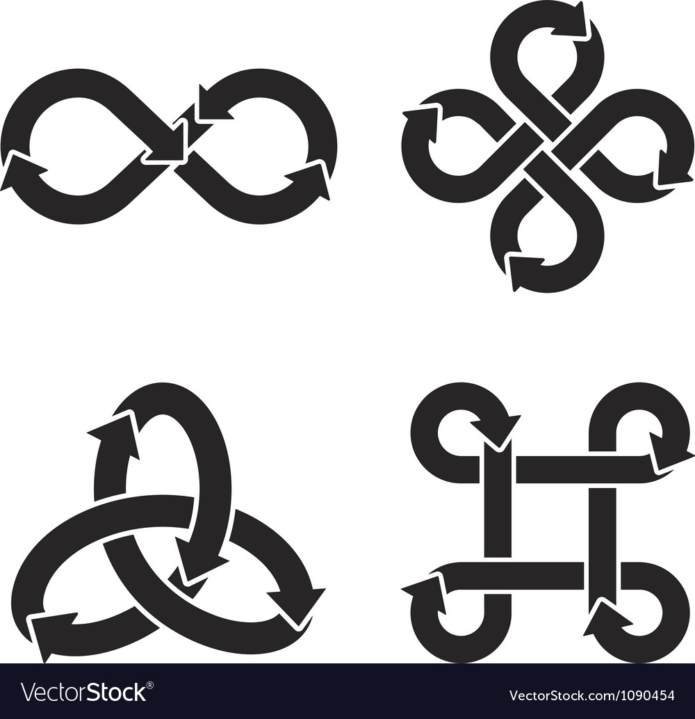 Infinity symbol icons royalty free vector image infinity symbol icons vector image buycottarizona Choice Image