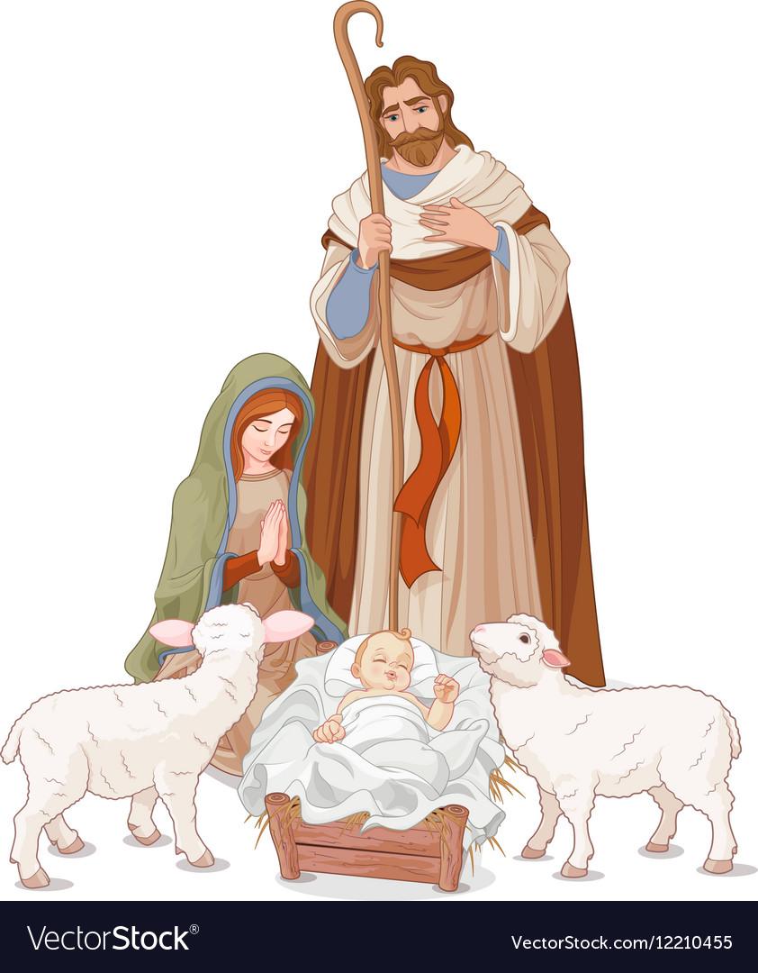 Nativity scene vector image