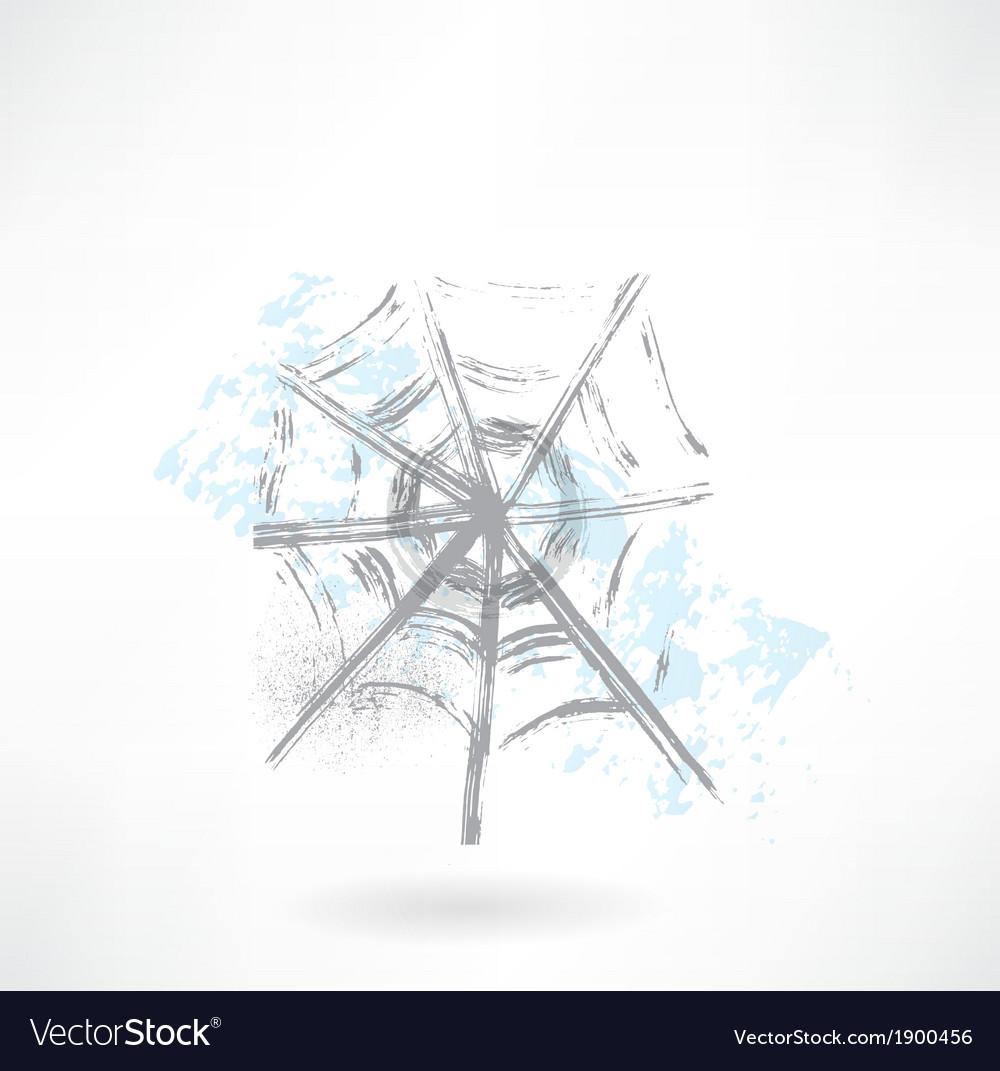Cobweb grunge icon vector image