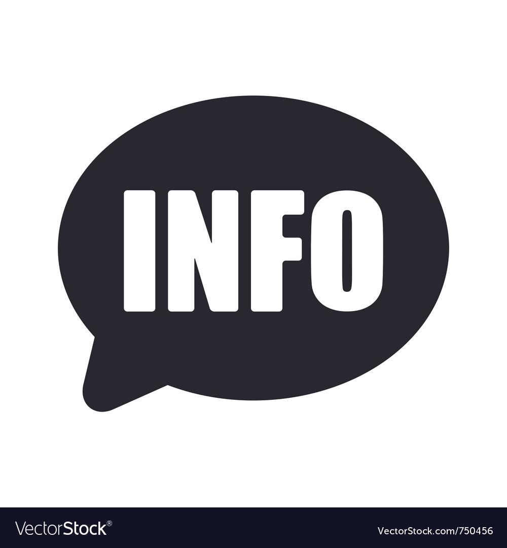 Info icon vector image