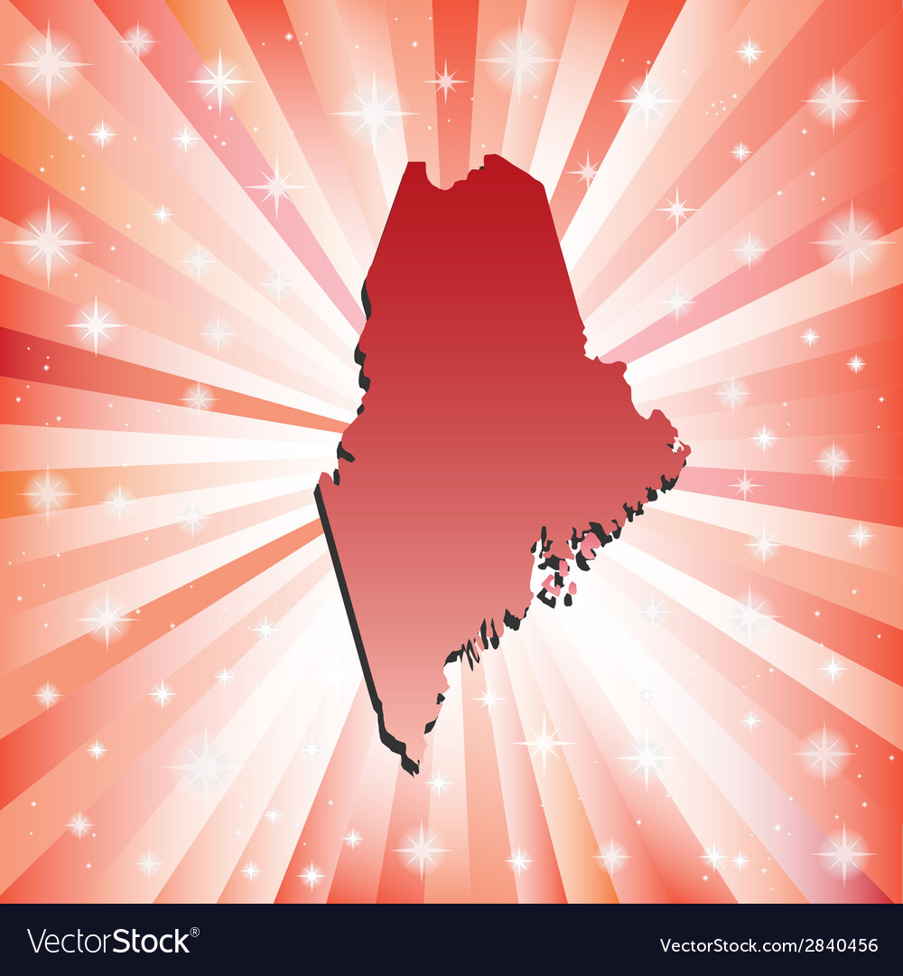 Red Maine vector image