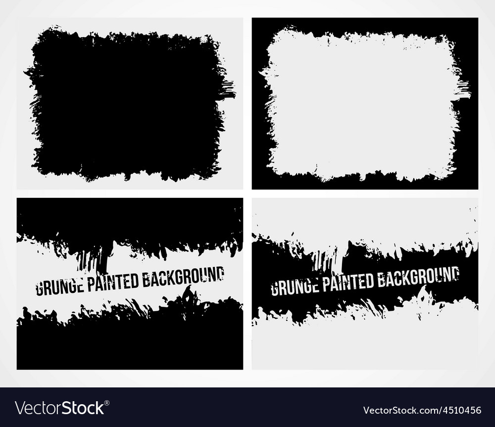 Set of abstract grunge frame texture background vector image
