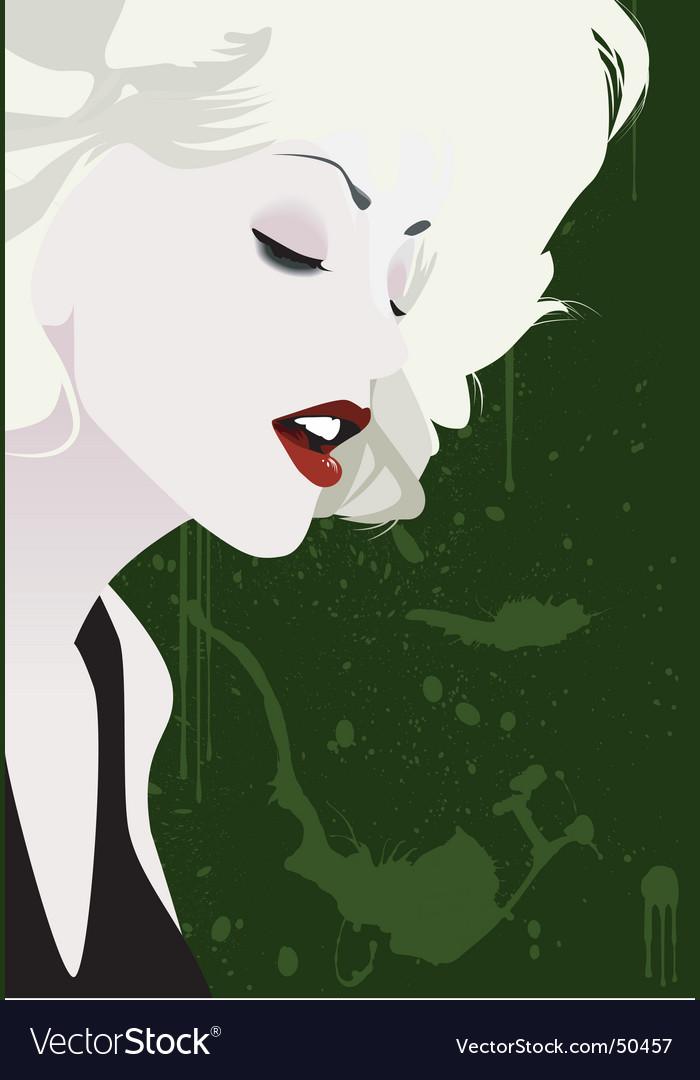 Blond girl vector image