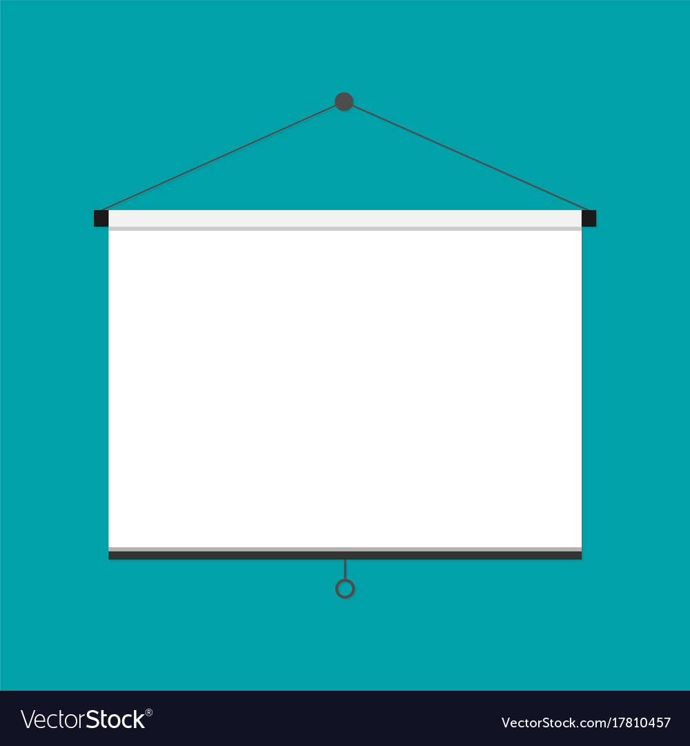 Flat empty projection screen vector image