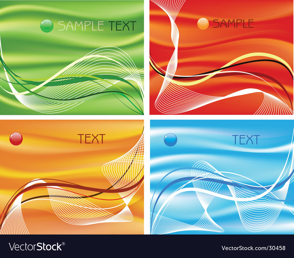 Abstract compositions vector image